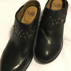Sofft leather studded  booties